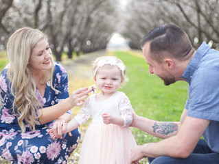 Jessica, Michael & Kinsley {Almond Blossoms}
