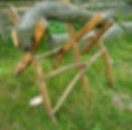 Rustic sawhorse