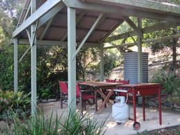 Guest BBQ area at Bilyana Cottages