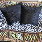 Black Leopard Cushions