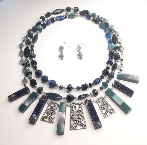 Blue Grass 2 Necklaces
