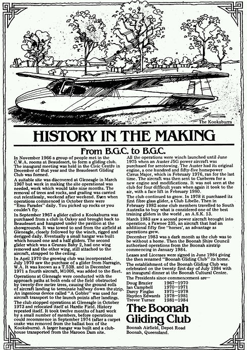 History in the Making Boonah Gliding Club