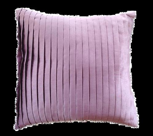 Mauve Satin Pleat Cushion