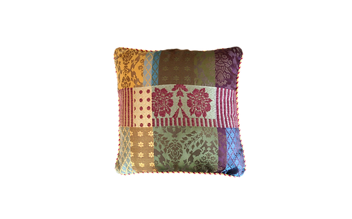 Jacquard Patchwork Cushion