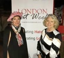 SANDY RETURNS FROM LONDON HAT WEEK!