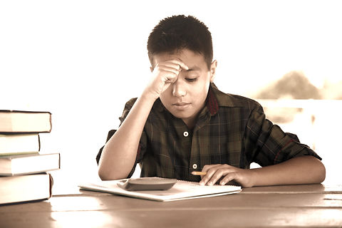 Students struggling with school work
