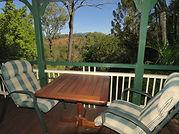Veranda views at Bilyana Cottages