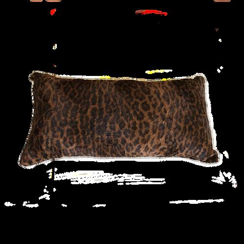 Brown Leopard Print Cushion