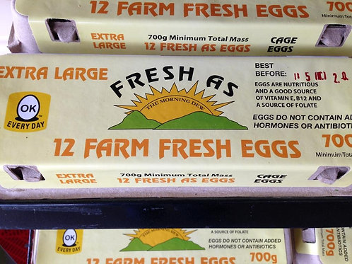 12 Extra Large Farm Fresh Eggs 700 g