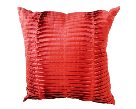 Red Satin Pleated Cushion