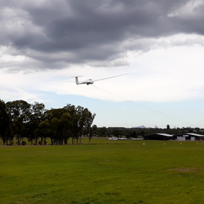 Glider taking off in Boonah
