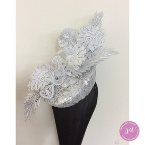 ICED SILVER LACE hat