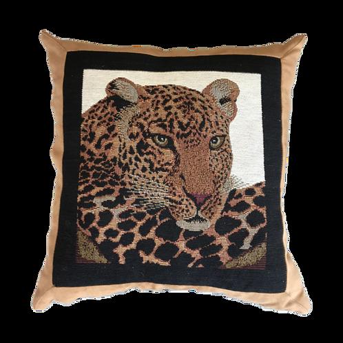 Leopard Head Cushion