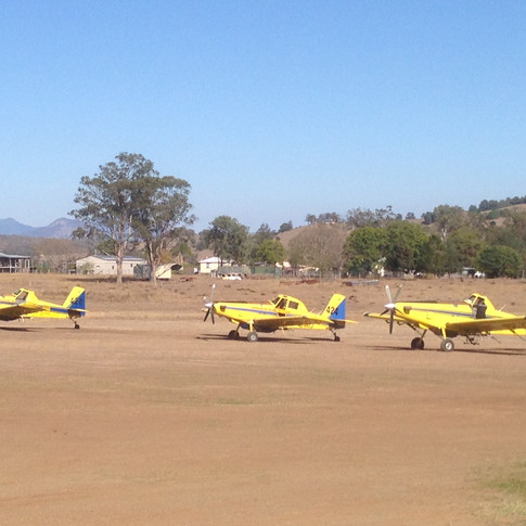 Bushfire aerial support Boonah Airfield