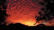 Stunning sunset at Bilyana Cottages