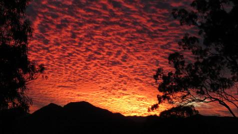 Spectacular sunset at Bilyana Cottages