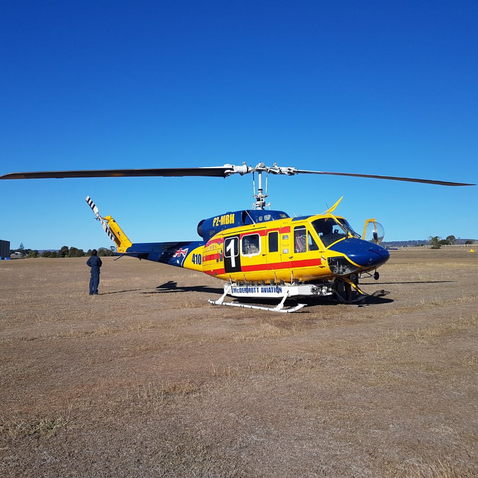 Bushfire Aerial Support helicopter Boona