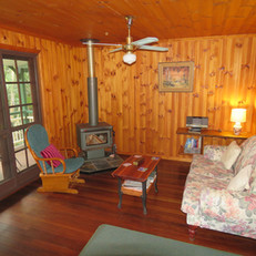 Living area in Rosella Cottage