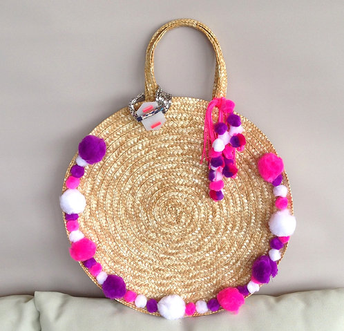 Straw Fiesta Bag