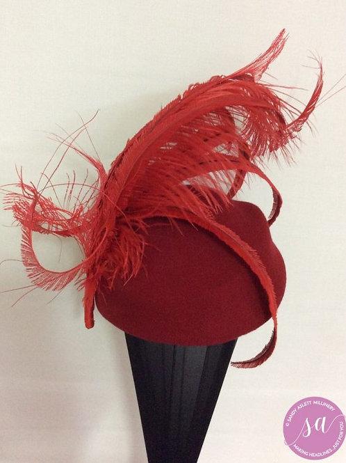 Merlot felt hat