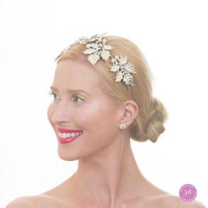 Silver Beaded Headband