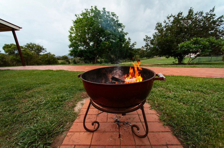 Mt Alford Lodge fire pit