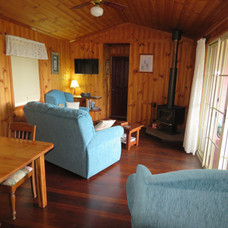 Living area in Pardalote Cottage