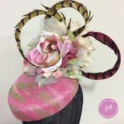 Sandy Aslett Milliner pink fascinator