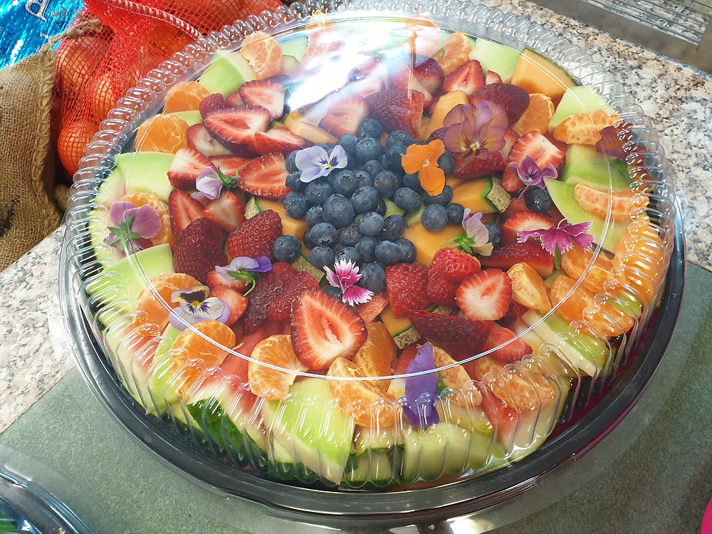 Mixed fruit platter ready to serve