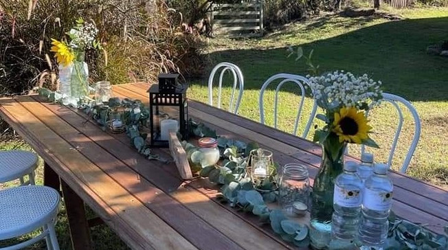 Country Wedding Table Setting