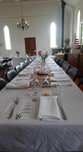 Catering inside the Historic Old Church