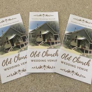Tri-fold Wedding Venue brochures