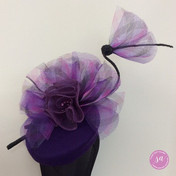 Sandy Aslett Milliner purple fascinator