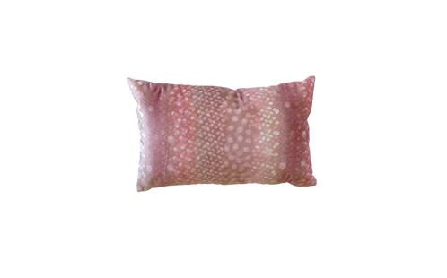 Spotted Pink Velour Cushion