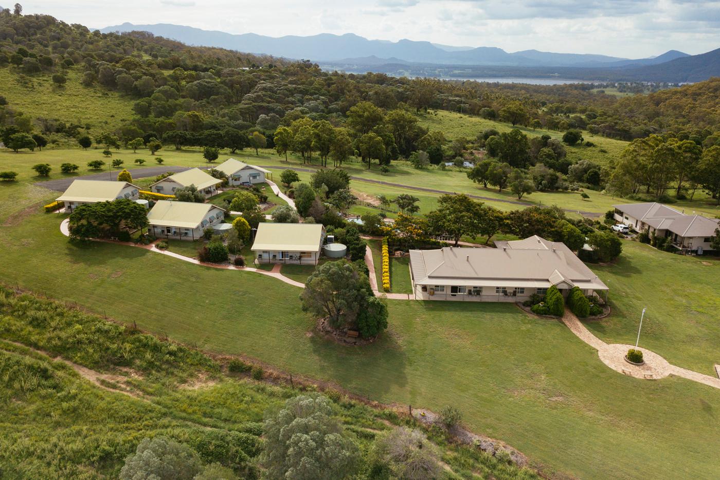 Mount Alford Lodge aerial