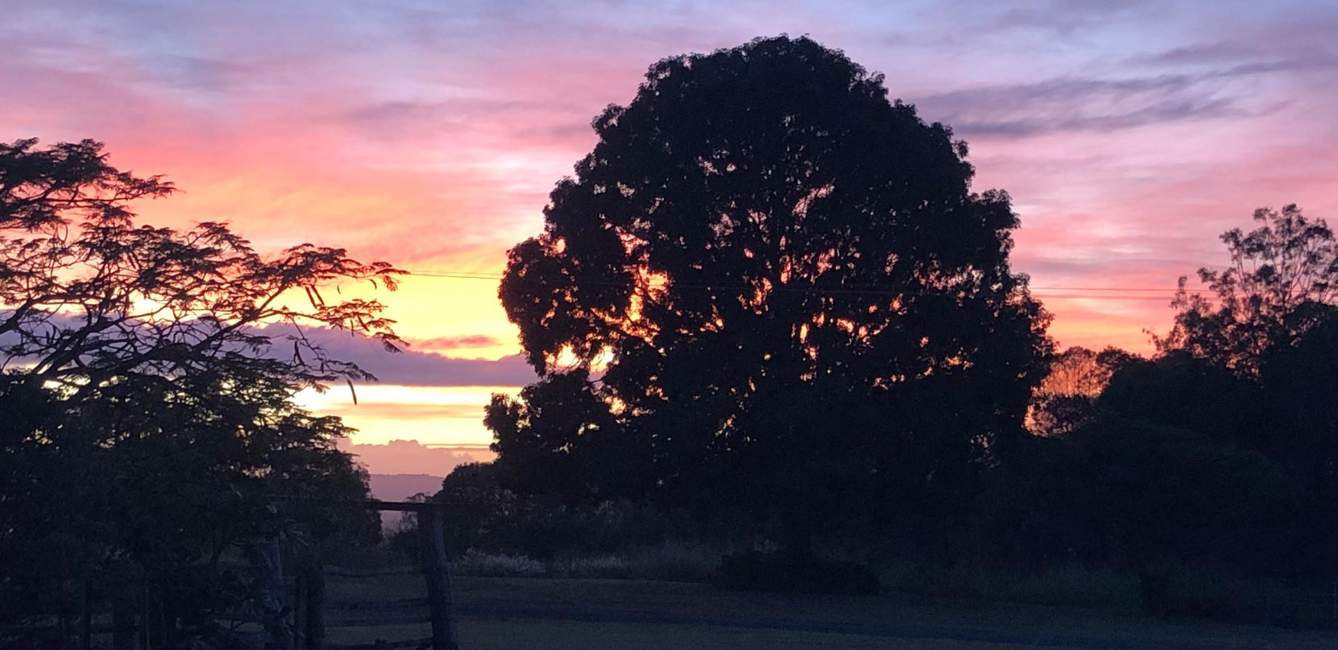 Mt Alford Lodge sunset