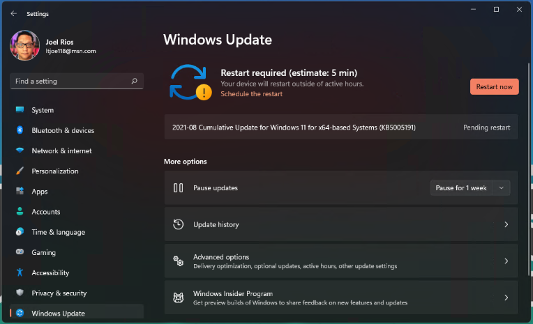 Windows updates still look like Windows Updates