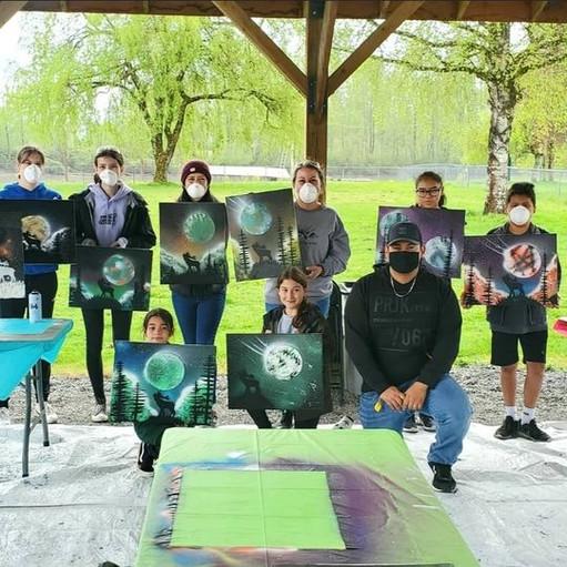 Kwantlen Kids Spray painting Photo 1.jpeg