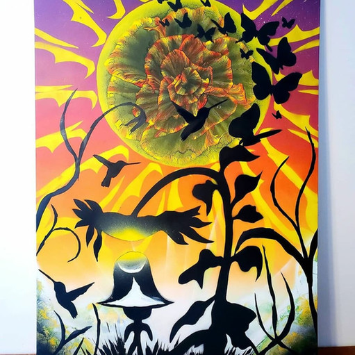 Sunflower Love Painting