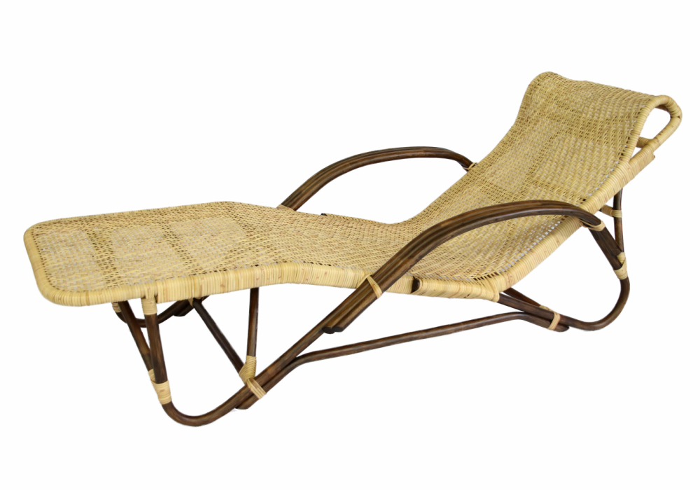 籐製寝椅子