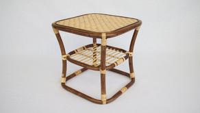 籐製テーブル 納品