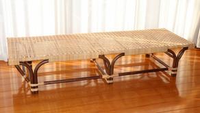 籐製ベンチソファ 納品