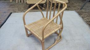 籐製子供椅子 納品