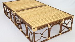籐製すのこベッド 納品