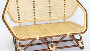 籐製六角二人掛け椅子 納品