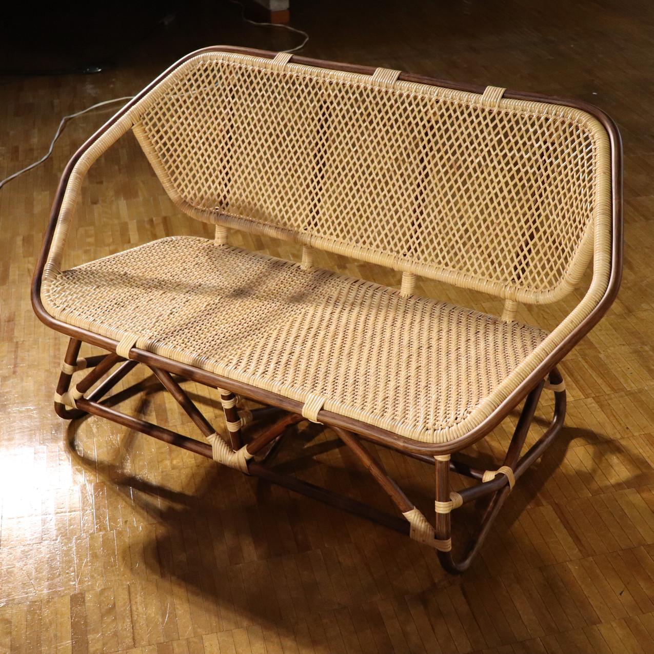 六角二人掛け椅子