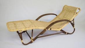 籐製寝椅子 編み換え