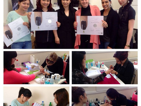 Creative Academy London holds CND Polished Nail training class for Team CND Nailympia