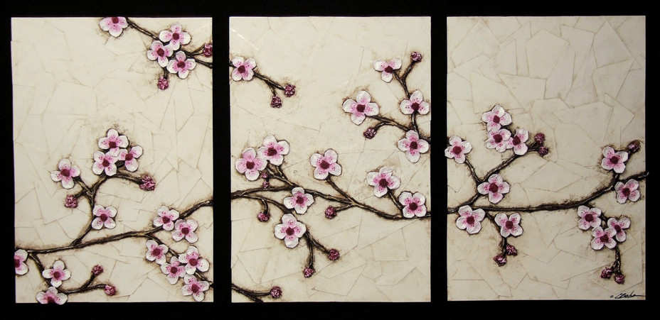 Cherry Blossoms (triptych)