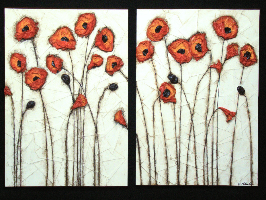 Poppies (diptych)